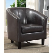 Simpli Home Austin Tub Arm Chair; Brown