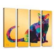 ArtWall Dark Velvet by Linzi Lynn 4 Piece Graphic Art on Wrapped Canvas Set; 36'' H x 48'' W x 2'' D
