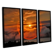 ArtWall Circle Around Sun by Steve Ainsworth 3 Piece Floater Framed Photographic Print on Canvas Set