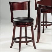 Woodhaven Hill 24'' Swivel Bar Stool with Cushion