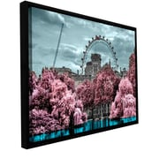 ArtWall 'London II' by Revolver Ocelot Framed Graphic Art on Wrapped Canvas; 24'' H x 48'' W