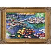 Tori Home Water Pink Lilies by Claude Monet Framed Painting Print