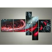 DesignArt Cityscape - Bright of the Sky 5 Piece Original Painting on Canvas Set