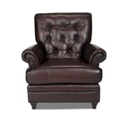 Opulence Home Pablo Leather Arm Chair; Espresso