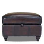 Opulence Home Pablo Leather Storage Ottoman; Alure Expresso