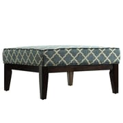 Kingstown Home Woodfield Peacock Upholstered Moroccan Ottoman