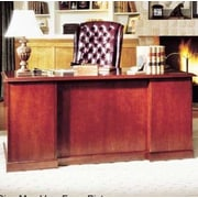 High Point Furniture Legacy Double Pedestal Executive Desk; High Pressure Laminate Top With Molding