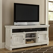 Woodhaven Hill Howard TV Stand; Distressed White