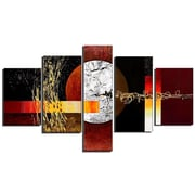 DesignArt Textured Contemporary 5 Piece Original Painting on Canvas Set
