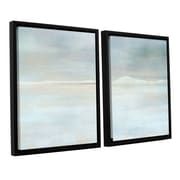 ArtWall Landscape Snow by Cora Niele 2 Piece Floater Framed Graphic Art Set; 24'' H x 36'' W x 2'' D
