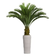 "Laura Ashley 69"" Tall Cycas Palm Tree in Planter (VHX111218)"