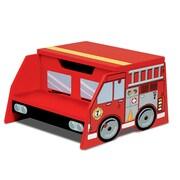 KidKraft Firefighter 2-Step Manufactured Wood Fire Truck Step Stool