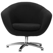 Fox Hill Trading Overman Five Prong Base Comet Barrel Chair; Black