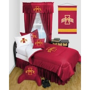 Sports Coverage NCAA Iowa State Bed Skirt; Queen
