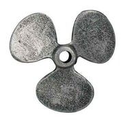 Handcrafted Nautical Decor Propeller Paperweight; Antique Silver