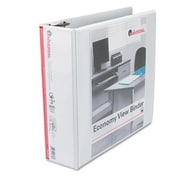 Universal Products Economy D-Ring Vinyl View Binder; White