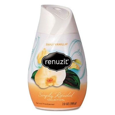 Renuzit Adjustables Air Freshener, Simply Vanilla, Solid,
