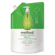 Method Gel Hand Wash Refill, 34 Oz, Cucumber Scent, Plastic Pouch, 6/carton
