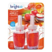 BRIGHT Air Scented Oil Refills, Macintosh Apples/cinnamon, 0.67oz Refill, 2/pack, 6/ctn