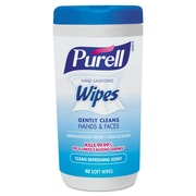 PURELL Hand Sanitizing Wipes, 5.7 x 7 1/2, Clean Refreshing Scent, 40/canister, 6/carton