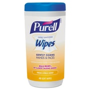 PURELL Hand Sanitizing Wipes, 5.7 x 7 1/2, Fresh Citrus Scent, 40/canister, 6/carton