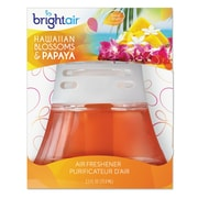 BRIGHT Air Scented Oil Air Freshener, Hawaiian Blossoms & Papaya, Orange, 2.5oz
