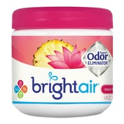BRIGHT Air Super Odor Eliminator, Island Nectar & Pineapple, Pink, 14oz, 6/carton