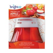 BRIGHT Air Scented Oil Air Freshener, Macintosh Apple & Cinnamon, Red, 2.5oz