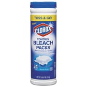 Clorox Control Bleach Packs, 34/canister, 25.2 Oz Canister, 4/carton