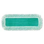 "Rubbermaid Commercial Dust Pad W/fringe, Microfiber, 18"" Long, Green, 6/carton"