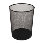 Rubbermaid Commercial Steel Mesh Wastebasket, Round, 5gal, Black, 6/carton