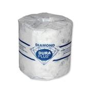 Dura Plus White 2 Ply Diamond Quality Bathroom Tissue 420 Sheets, 48/Pack