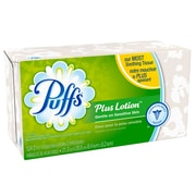 Puffs 2-Ply Facial Tissue Plus Lotion, Aloe, Vitamin E and Shea Butter, 24 Packs/Case