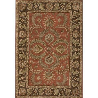 Chandra Scotia Brown/Red Area Rug; 2' x 3'