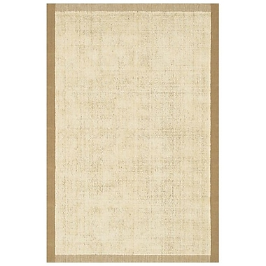 Chandra Art White Area Rug; 5' x 7'6''