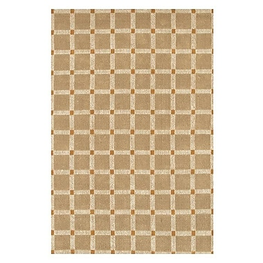 Chandra Art Brown/Orange Area Rug; 5' x 7'6''