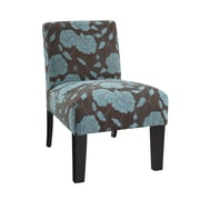 DHI Deco Rose Slipper Chair; Blue Rose