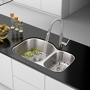 Ruvati Varna 31.5'' x 20.75'' Undermount Double Bowl Kitchen Sink