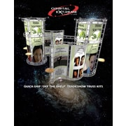 Exhibitor's Hand Book Two Way Telescopic Pegasus Banner Stand; Silver