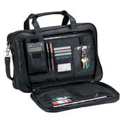 Royce Leather Royce Leather Expandable Laptop Briefcase Organizer Bag; Black