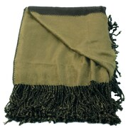 WovenWorkz Bonnie Throw Blanket; Olive/Green