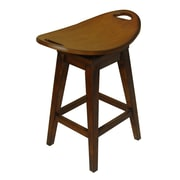 Carolina Accents Thoroughbred 26.13'' Swivel Bar Stool; Cherry