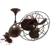 Matthews Fan Company 53'' Italo Ventania 6 Metal Blade Ceiling Fan; Black