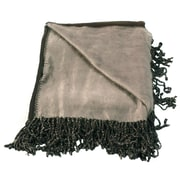 WovenWorkz Bonnie Throw Blanket; Chocolate/Taupe