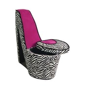 ORE Furniture High Heels Storage Side Chair; Pink