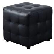 Diamond Sofa Zen Cube Ottoman; Black