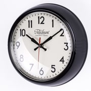 Control Brand Cambridge 10.25'' Wall Clock; Black