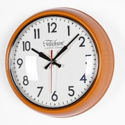 Control Brand Cambridge 10.25'' Wall Clock; Orange