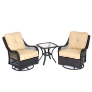 Hanover Outdoor Orleans 3 Piece Deep Seating Group with Cushions; Sahara Sand