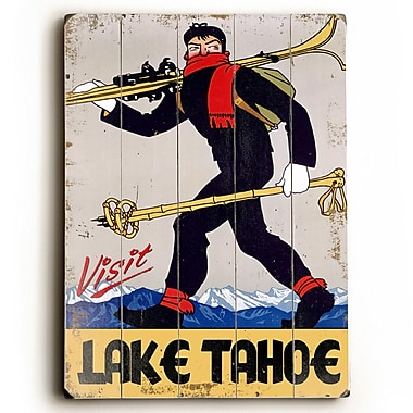 Artehouse LLC Visit Lake Tahoe Vintage Advertisement Plaque